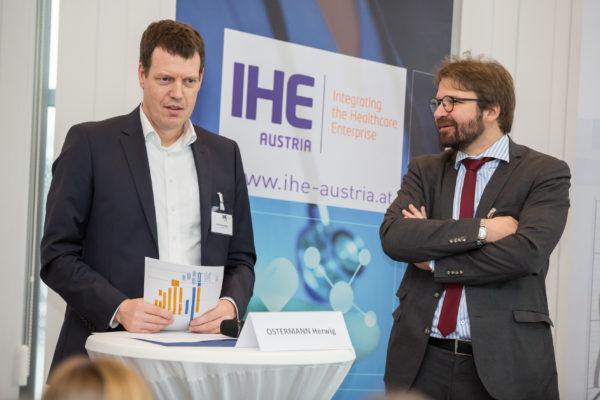 Wien - IHE Day am 8.11.17 in Wien mit hochrangigen, internationel erfolgreichen Speaktern wie Dr. Herwig Ostermann, BMGF; Aron Appel-Jeronen (CSC); Dr. DI Günter Rauchegger, Vorstandsmitglied IHE Austria (/Geschäftsführer ELGA GmbH) und DI Jürgen Brandstätter, Vorstandsmitglied IHE Austria.
